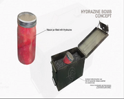 Hydrazine bomb concept