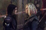 Clarke and Octavia Exit Wounds