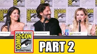 THE 100 Season 4 Comic Con Panel (Part 2) - Eliza Taylor, Lindsey Morgan, Marie Avgeropoulos