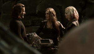 Abby, Clarke and Kane in Pandora's Box