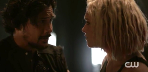 The-100-5x04 - Clarke & Bellamy