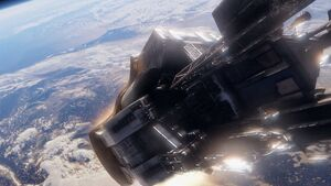 Pilot dropship reentry