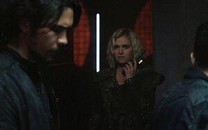 5x07 - Bellamy, Clarke, and Monty