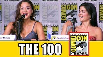 THE 100 Season 4 Comic Con Panel (Part 1) - Eliza Taylor, Lindsey Morgan, Marie Avgeropoulos