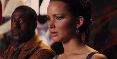 Chaff y Katniss en las entrevistas