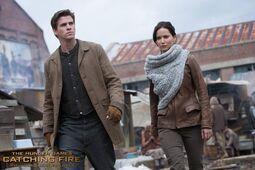 Gale y Katniss En Llamas