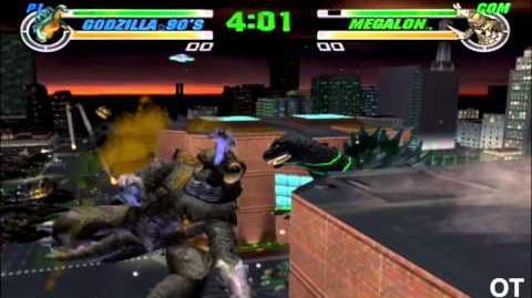 Godzilla Destroy All Monsters Melee - Godzilla 90s vs Megalon
