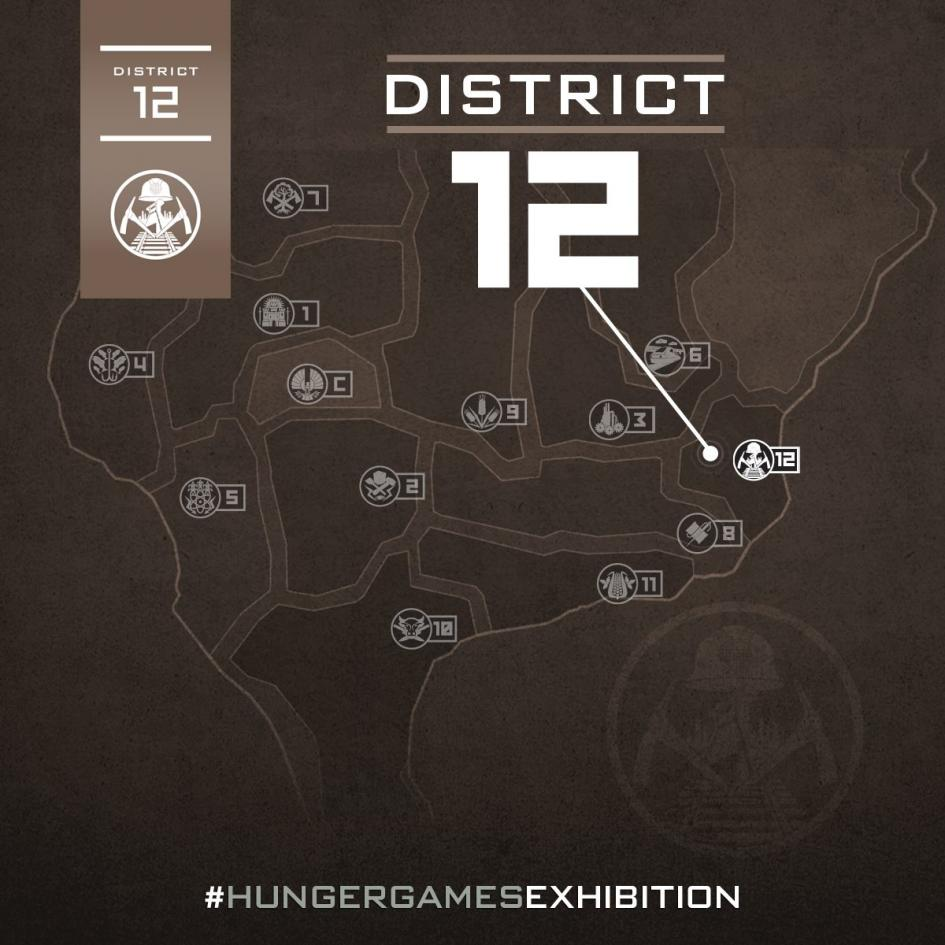 Location and Geography Hunger Games Exhibition Map
