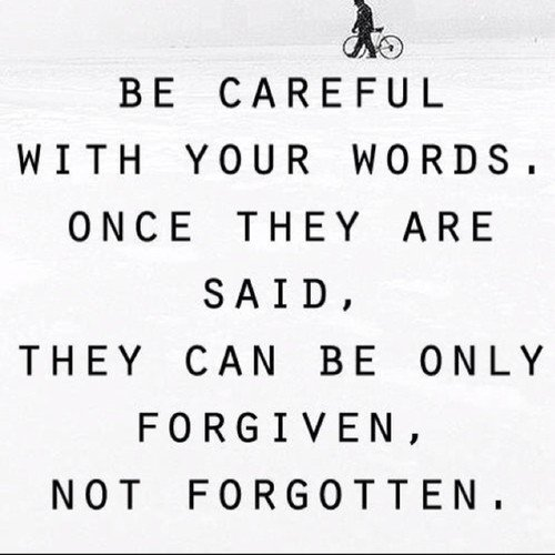 Your words hurt quotes