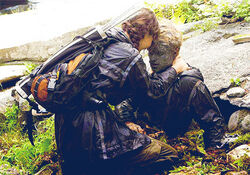 Katniss encontrando a Peeta
