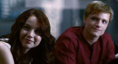 Katniss y Peeta en el Capitolio