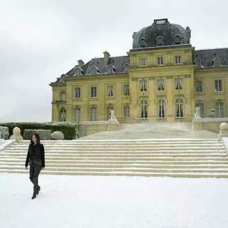 Дженнифер Лоуренс на фоне дворца Вуазен