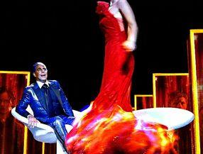 Огненное платье