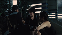 Beetee, Wiress y Katniss entrenando