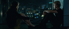 Katniss y Peeta en la azotea