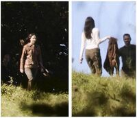Jen on set of Mj -6