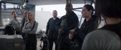 Katniss viendo a su escuadrón