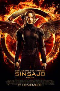 Póster promocional de Katniss como el sinsajo