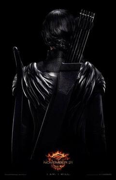 Póster de Katniss para Sinsajo Parte 1