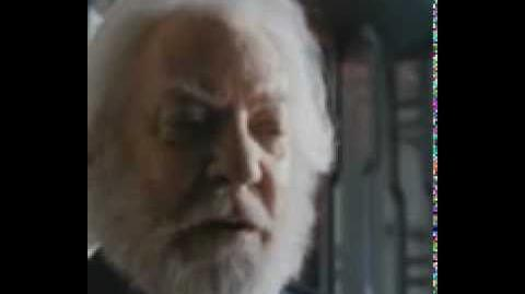 President Snow Welcoming the Tributes
