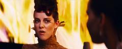 Johanna hablando con Katniss