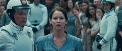 Katniss ofreciéndose como voluntaria