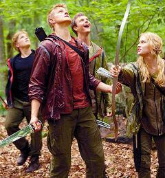 Los profesionales observando a Katniss