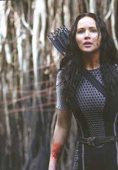 Katniss luego de que Johanna le sacara el rastreador