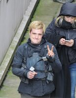 Josh hutscherson on set of The Hunger Games- Mockingjay Part 2