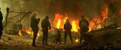 Китнисс смотрит на огонь