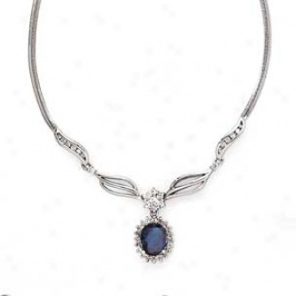 Image 14k white gold sapphire and diamond necklaceg the 14k white gold sapphire and diamond necklaceg mozeypictures Images