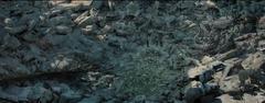 Superficie del Distrito 13 luego del segundo bombardeo