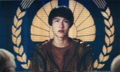 Holograma del tributo del Distrito 8 en En Llamas