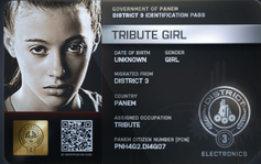 District 3 Tribute Girl ID Card