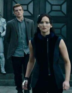 Katniss impresionada durante la gira