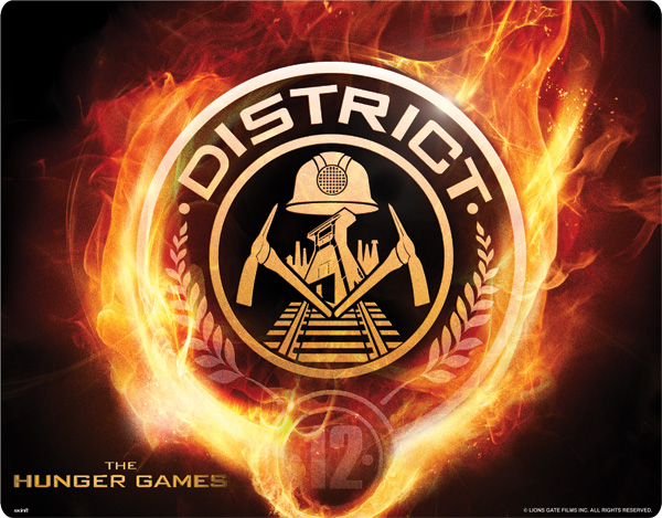 Image The Hunger Games District 12 Logo On Fireg The Hunger