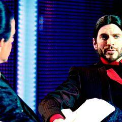 Цезарь и Сенека во время интервью