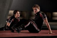 Peeta & Katinss in training center