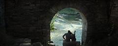 Katniss y Gale observando un lago