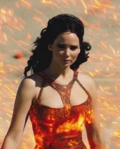 Katniss durante el desfile
