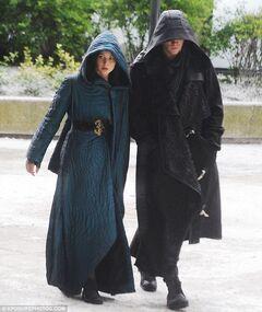 Jennifer y Liam en el rodaje de Sinsajo 3