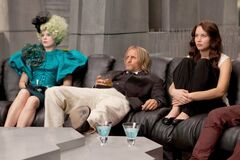 Effie, Haymitch y Katniss