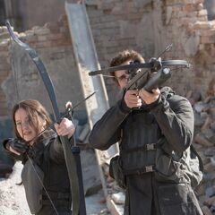 Китнисс и Гейл на боевой позиции