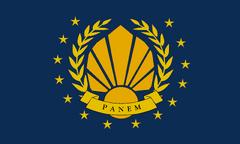 Bandera de Panem luego de la segunda rebelión
