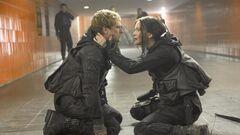 Katniss y Peeta en el Transportador