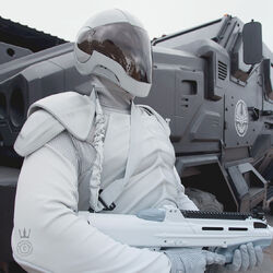 Agente de la paz armado