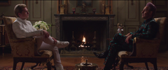Peeta en su entrevista con Caesar