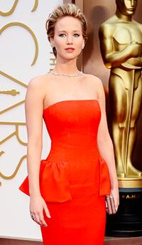 Jennifer Lawrence en los Óscars 2014