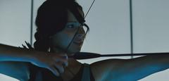 Katniss en el Centro de Entrenamiento En Llamas
