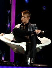 Cato durante su entrevista